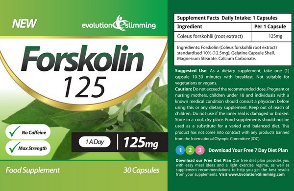 forskolin label ingredients