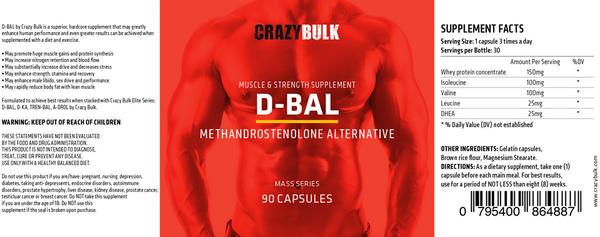 d-bal dianabol ingredients